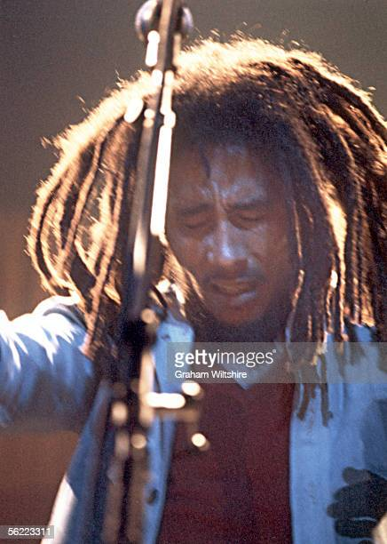 Reggae star Bob Marley performing with The Wailers at the Rainbow Theatre London 3rd June 1977