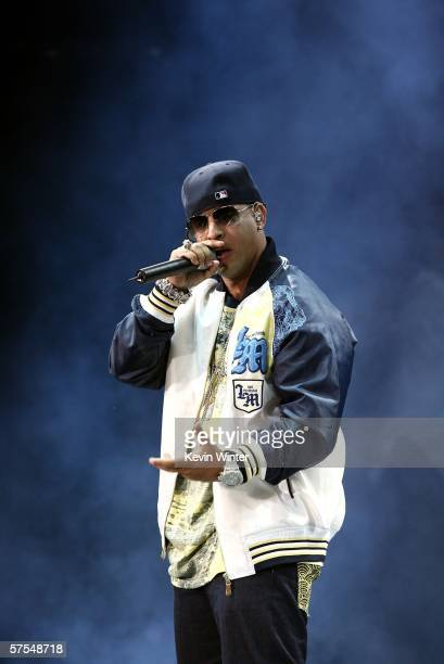 Reggaeton artist Daddy Yankee performs onstage during 1027 KIISFM's Wango Tango 2006 concert held at the Verizon Wireless Amphitheater on May 6 2006...