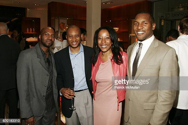 Reggie Brown, James Sullivan, Joanne Hill and Zaid Abdul-Aleem attend EXCLUSIVE NIGHT OF COCKTAILS SHOPPING W CEO OF HERMES at Hermes on April 23,...