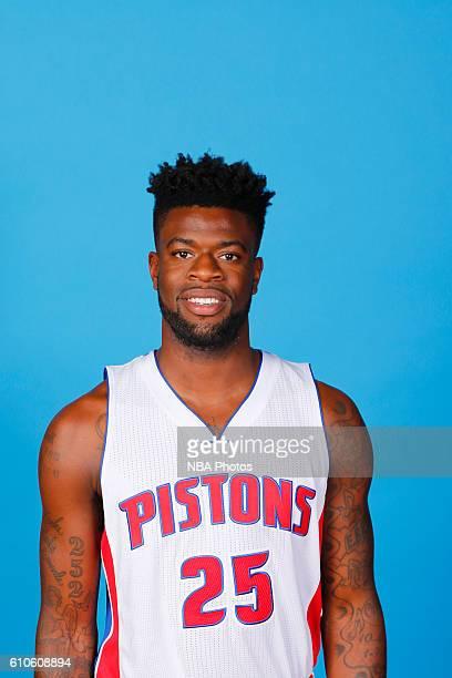 Reggie Bullock of the Detroit Pistons poses for a headshot during the 20162017 Detroit Pistons Media Day on September 26 2016 in Auburn Hills...