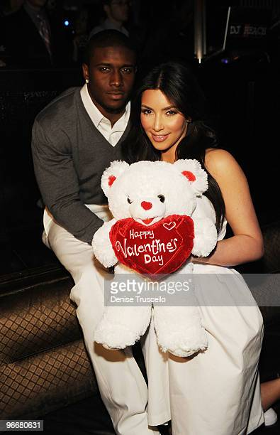 Reggie Bush and Kim Kardashian attend The Queen of Hearts Ball at Lavo on February 13 2010 in Las Vegas Nevada
