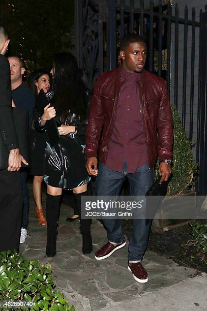Reggie Bush and Lilit Avagyan at Craig's restaurant on February 05 2015 in Los Angeles California