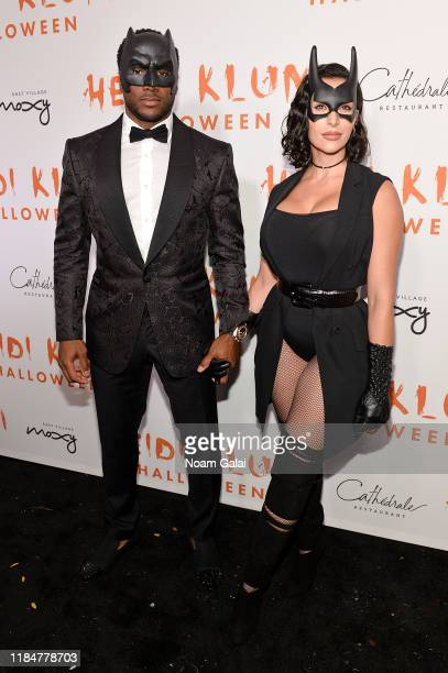 Reggie Bush and Lilit Avagyan attend Heidi Klum's 20th Annual Halloween Party presented by Amazon Prime Video and SVEDKA Vodka at Cathédrale New York...
