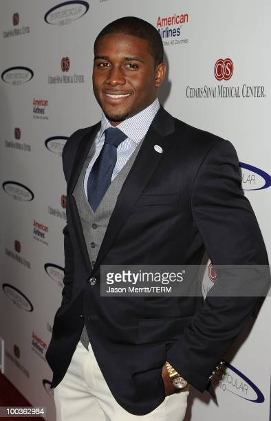 Reggie Bush arrives at the 25th Anniversary Of Cedars-Sinai Sports Spectacular held at the Hyatt Regency Century Plaza Hotel on May 23, 2010 in Los...