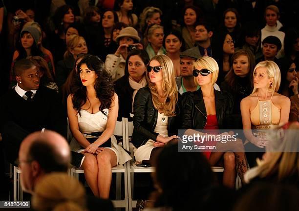 Reggie Bush Kim Kardashian Nicky Hilton Paris Hilton and Kellie Pickler attend the Tracy Reese Fall 2009 fashion show during MercedesBenz Fashion...