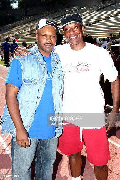 "Reggie Bythwood and Orlando Jones during B-DADS Presents 3rd Annual ""Little Legs With Big Hearts"" A Fun Run For Kids To Benefit Children Afflicted..."
