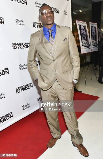 Reggie Cole attends the premiere of Gravitas Pictures' 'Survivors Guide To Prison' at The Landmark on February 20 2018 in Los Angeles California