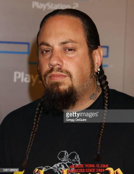Reggie 'Fieldy' Arvizu of 'Korn' during Playstation 2 'Playa Del Playstation' Party at Viceroy Hotel in Santa Monica California United States