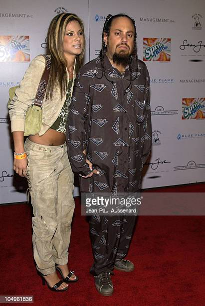 Reggie 'Fieldy' Arvizu of 'Korn' wife during Gatsby Party Hosted by P Diddy Ashton Kutcher Sponsored by Sprite Remix at Private Residence in Beverly...