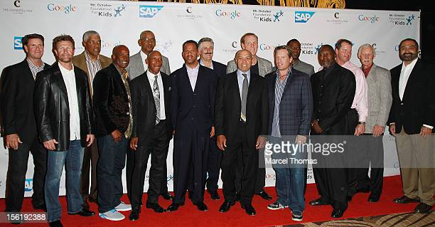 Reggie Jackson and celebrity All stars attend the 8th All Star Celebrity Classic benefiting the Mr October Foundation for Kids at Cosmopolitan Hotel...