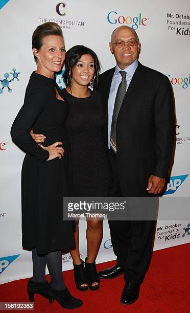 Reggie Jackson attends the 8th All Star Celebrity Classic benefiting the Mr October Foundation for Kids at Cosmopolitan Hotel on November 11 2012 in...