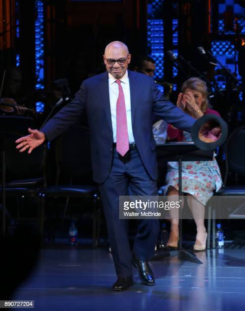 Reggie Jackson during the Curtain Call for the Roundabout Theatre Company presents a OneNight Benefit Concert Reading of 'Damn Yankees' at the...