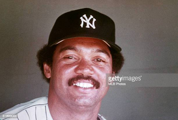 Reggie Jackson of the New York Yankees poses for a portrait circa 19771981