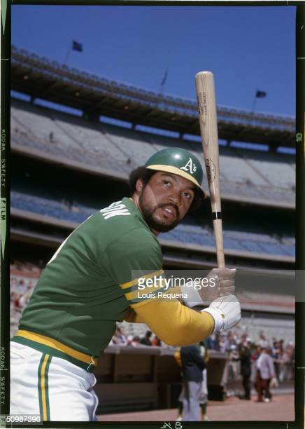 Reggie Jackson of the Oakland Athletics poses for an action portrait circa 1972 Reggie Jackson played for the Oakland Athletics from 1967 1975 and...