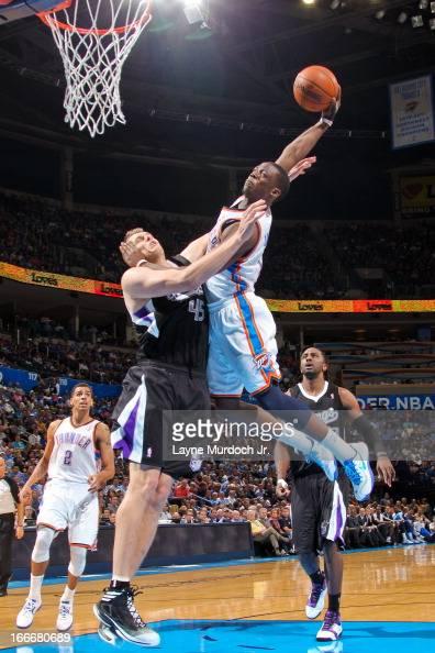 Reggie Jackson of the Oklahoma City Thunder attempts a ...