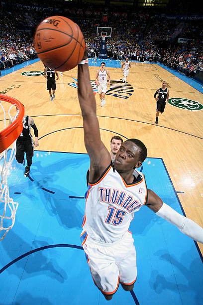 Reggie Jackson of the Oklahoma City Thunder v Spurs