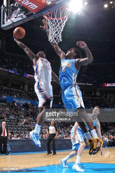 Reggie Jackson of the Oklahoma City Thunder goes up for ...