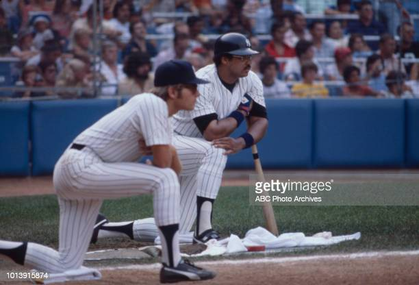 Reggie Jackson playing for the New York Yankees