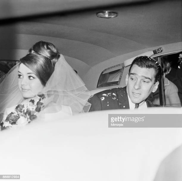 Reggie Kray with his wife Francis Shea after the ceremony at St Paul's Church London 19th April 1965