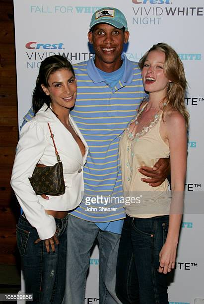 Reggie Miller and guests during Crest Vivid White Night Presents Fall for White Arrivals at Private Residence in Malibu California United States