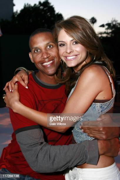 Reggie Miller and Maria Menounos during Maria Menounos Birthday Party Hosted by Belvedere Vodka at Private Home in Los Angeles CA United States