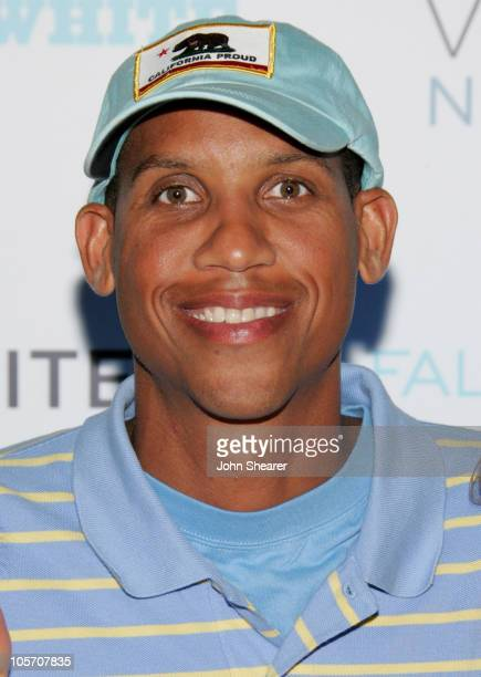 Reggie Miller during Crest Vivid White Night Presents Fall for White Arrivals at Private Residence in Malibu California United States