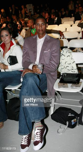 Reggie Miller during Gen Art LA's 9th Annual Fresh Faces in Fashion Inside and Runway at Barker Hanger in Santa Monica CA United States