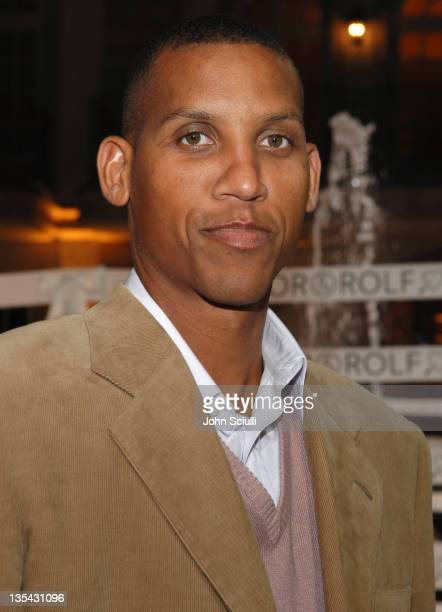 Reggie Miller during Viktor Rolf Celebrates The Launch of Their Collection for HM Red Carpet at Private Residence in BelAir California United States