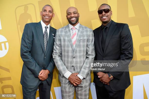 Reggie Miller Vince Carter and Paul Pierce attend the 2017 NBA Awards Live on TNT on June 26 2017 in New York New York 27111_002