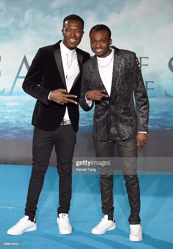 Reggie 'N' Bollie attend the European Premiere of 'In The Heart Of The Sea' at Empire Leicester Square on December 2, 2015 in London, England.
