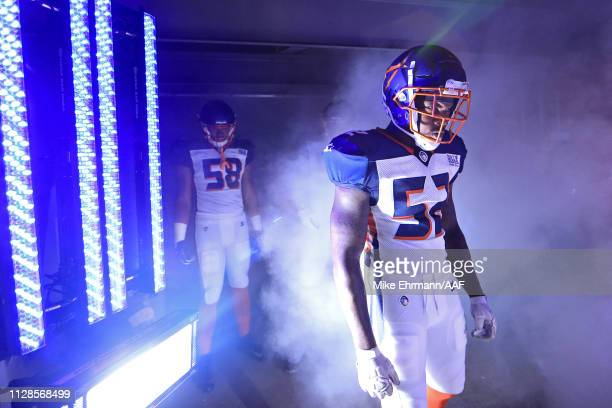 Reggie Northrup II of Orlando Apollos takes the field prior to the game against the Atlanta Legends on February 09 2019 in Orlando Florida