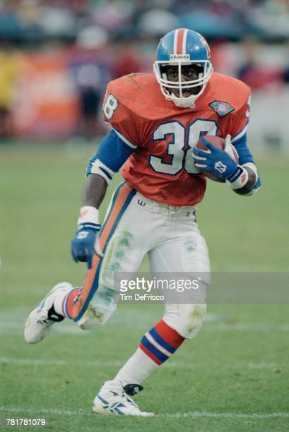 Reggie Rivers Running Back for the Denver Broncos during the American Football Conference West game against the Cleveland Browns on 30 October 1994...