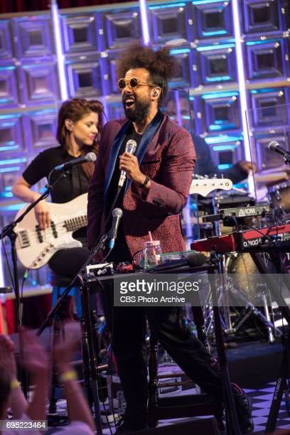 Reggie Watts and Hagar Ben Ari on The Late Late Show with James Corden airing Thursday June 8th 2017 from London On The CBS Television Network