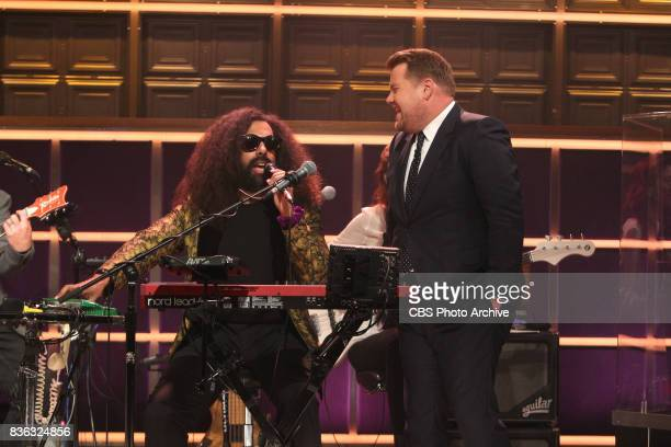 Reggie Watts and James Corden during 'The Late Late Show with James Corden' Wednesday August 9 2017 On The CBS Television Network
