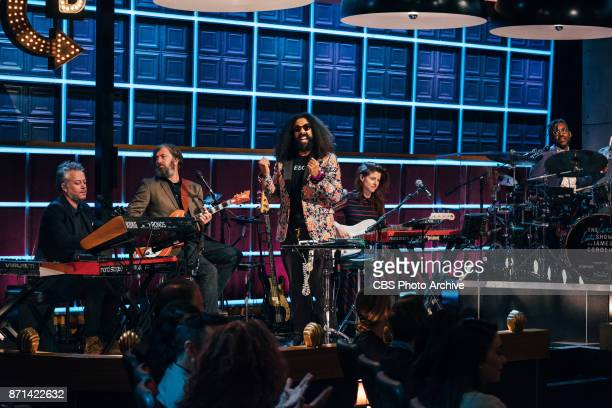 Reggie Watts and the Late Late Show Band perform during The Late Late Show with James Corden Thursday November 2 2017 On The CBS Television Network