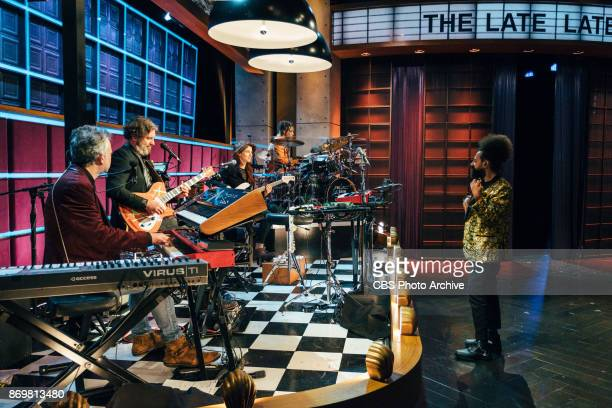 Reggie Watts and the Late Late Show Band performs during The Late Late Show with James Corden Tuesday October 31 2017 On The CBS Television Network