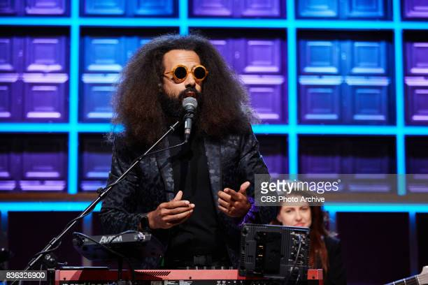 Reggie Watts asks a question during 'The Late Late Show with James Corden' Wednesday August 16 2017 On The CBS Television Network
