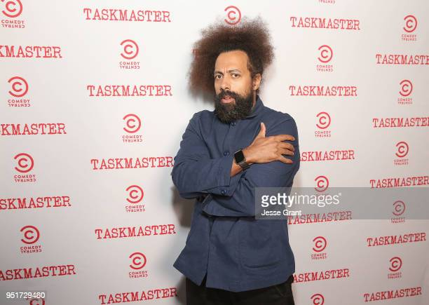 Reggie Watts attends Comedy Central's Taskmaster Premiere Party at HYDE Sunset Kitchen Cocktails on April 26 2018 in West Hollywood California