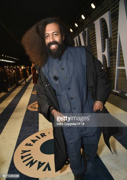 Reggie Watts attends the 2018 Vanity Fair Oscar Party hosted by Radhika Jones at Wallis Annenberg Center for the Performing Arts on March 4 2018 in...
