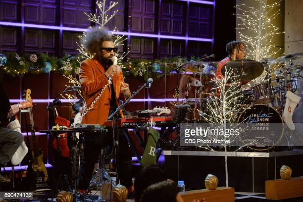 Reggie Watts performs during 'The Late Late Show with James Corden' Wednesday December 6 2017 On The CBS Television Network