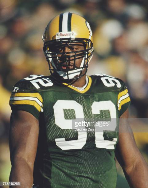 Reggie White Defensive End for the Green Bay Packers during the National Football Conference Central game against the Detroit Lions on 3 November...