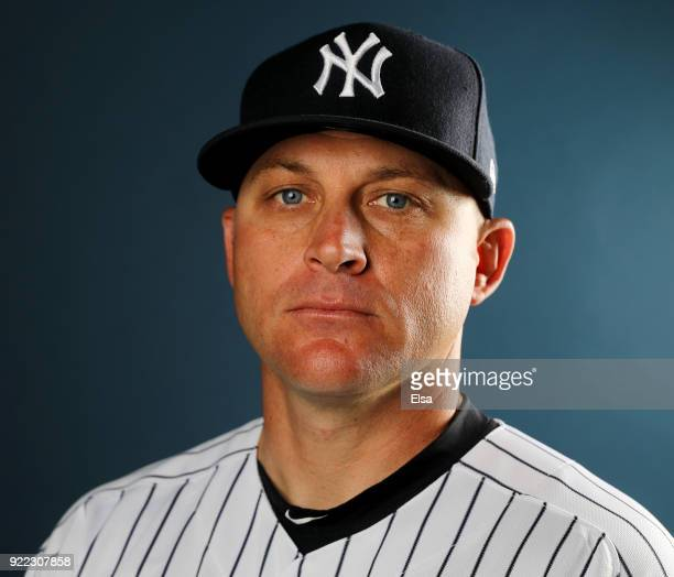 Reggie Willits of the New York Yankees poses for a portrait during the New York Yankees photo day on February 21 2018 at George M Steinbrenner Field...