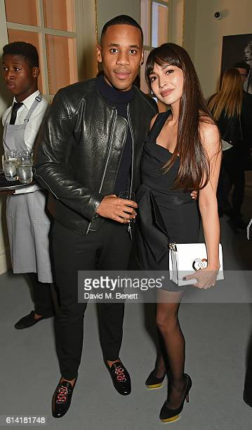 Reggie Yates and Zara Martin attend the launch of the Esquire Townhouse with Dior on October 12 2016 in London England