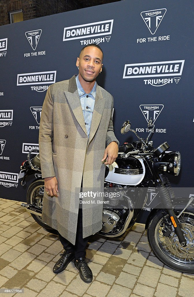 Reggie Yates attends the Global Triumph Bonneville launch on October 28, 2015 in London, England.