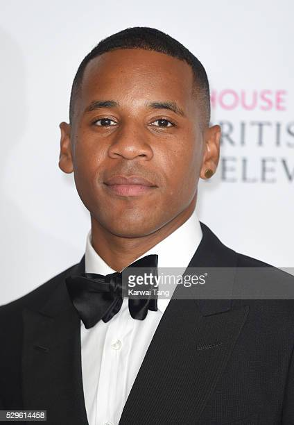 Reggie Yates poses in the winners room at the House Of Fraser British Academy Television Awards 2016 at the Royal Festival Hall on May 8 2016 in...
