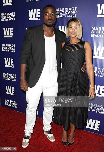 Reggie Youngblood and Tami Roman attend WE tv's Marriage Bootcamp Reality Stars' premiere party at HYDE Sunset Kitchen Cocktails on May 28 2015 in...