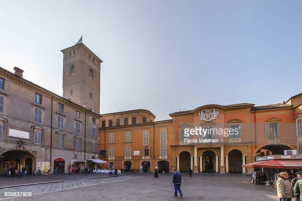 reggio emilia, piazza prampolini - emilia romagna, italy - レッジョエミリア ストックフォトと画像