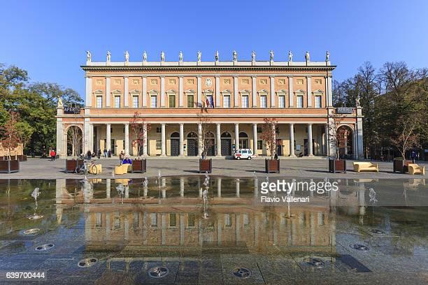 reggio emilia, teatro municipale romolo valli - emilia romagna, italy - レッジョエミリア ストックフォトと画像