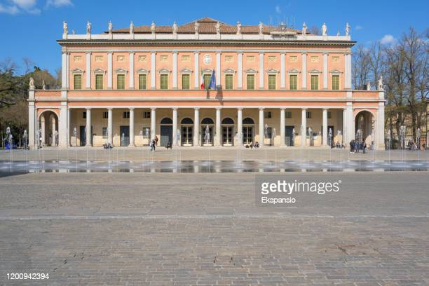 reggio emilia teatro valli opera house - reggio emilia stock pictures, royalty-free photos & images