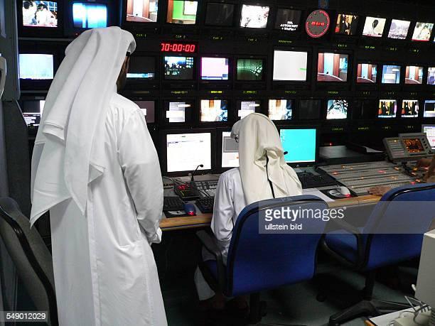 Regie bei Al Dschasira Al Jazeera Fernsehsender in Doha Katar